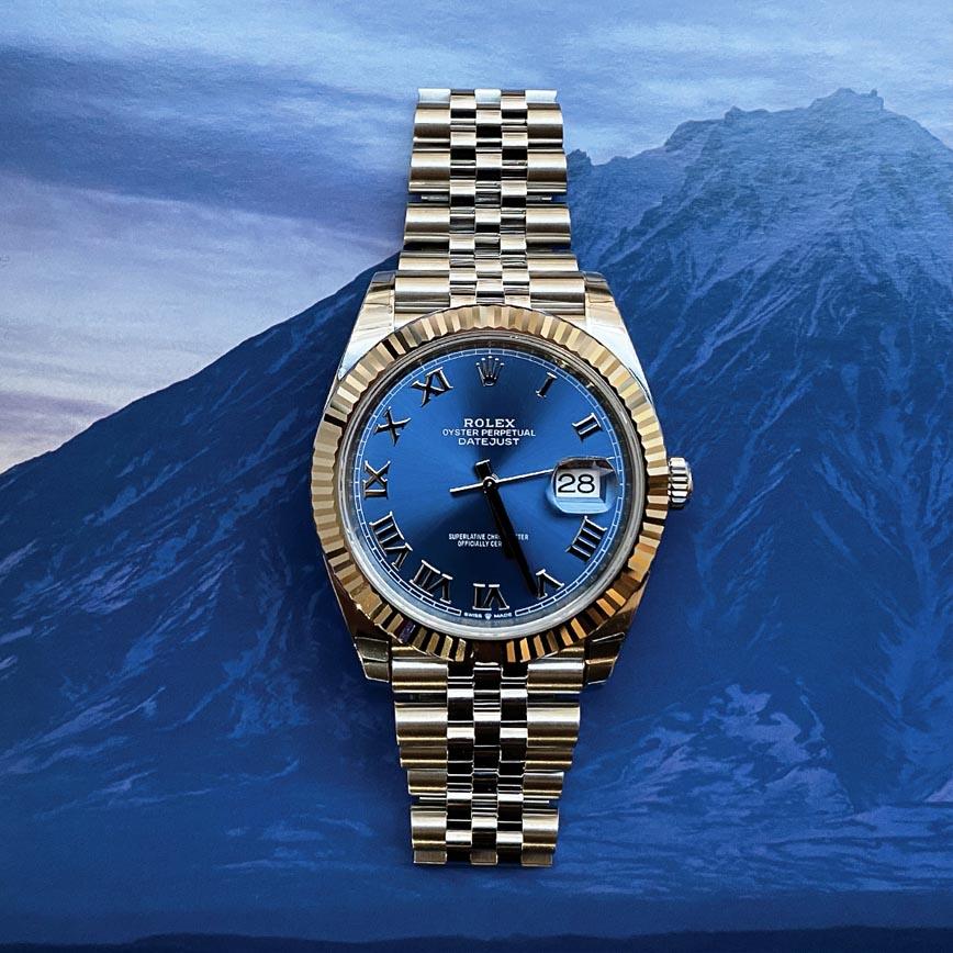 Montre homme Rolex Datejust ref.126334 41mm cadran bleu Azzuro et bracelet jubilé - Corse, Paris