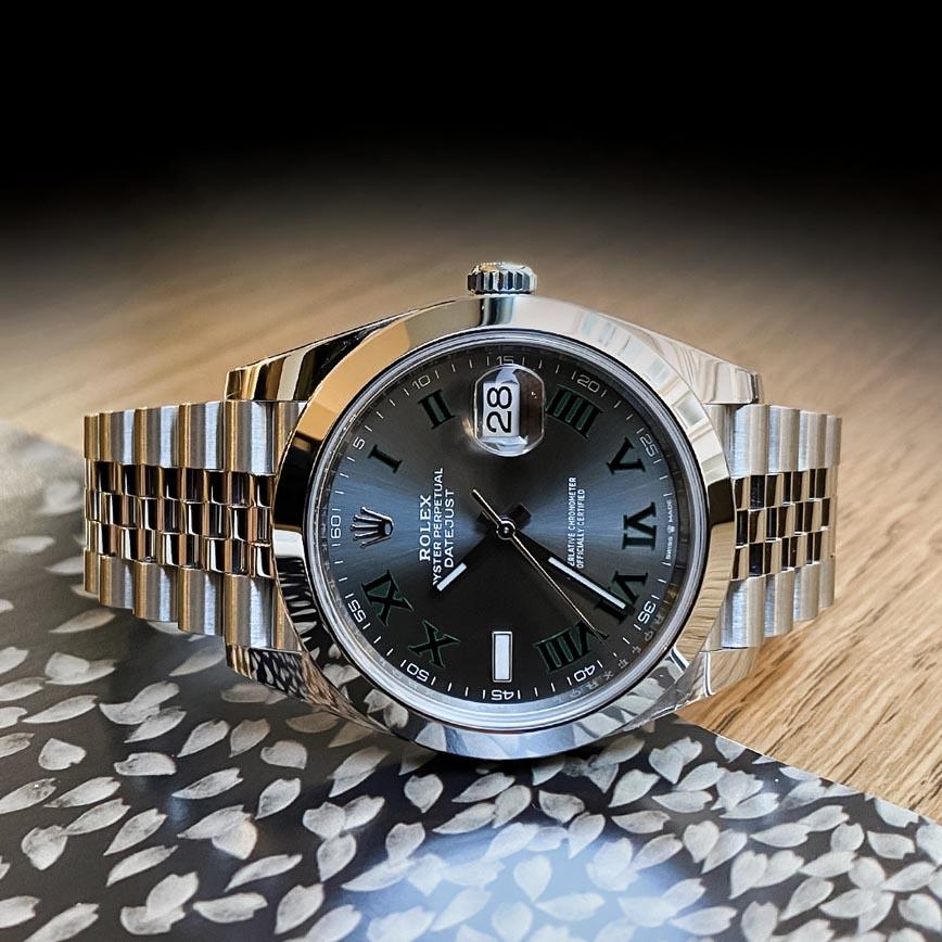 Montre homme Rolex Datejust Wimbledon ref.126300 41mm bracelet jubilé - Corse, Paris