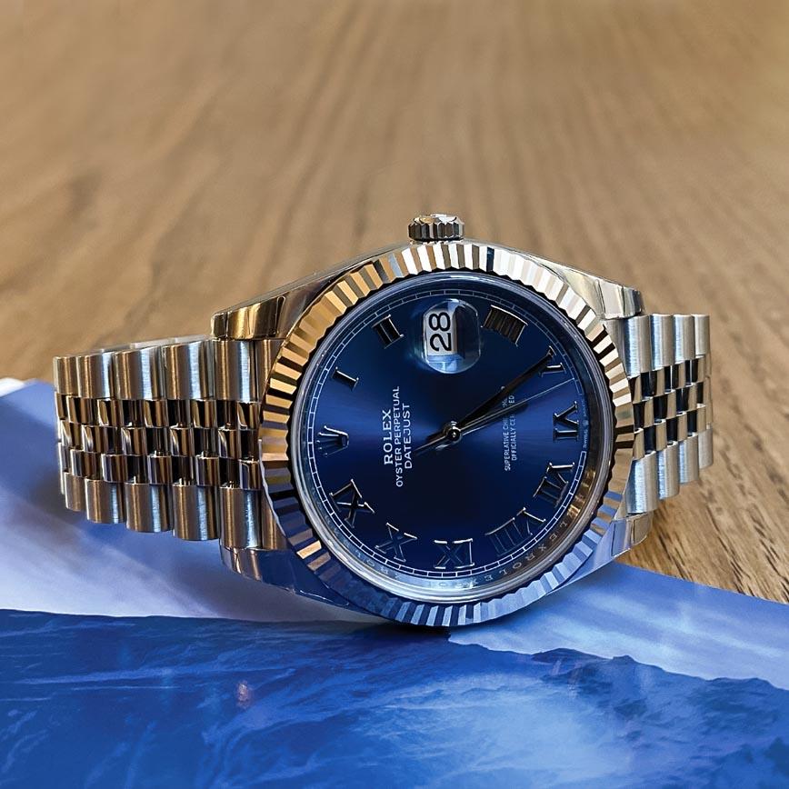 Rolex Datejust ref.126334 41mm cadran bleu Azzuro et bracelet jubilé - Bastia, Paris