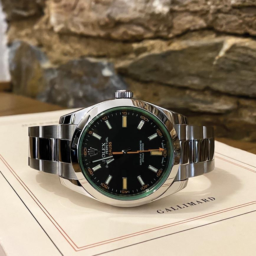 Rolex Milgauss ref.116400GV cadran vert - Bastia, Paris