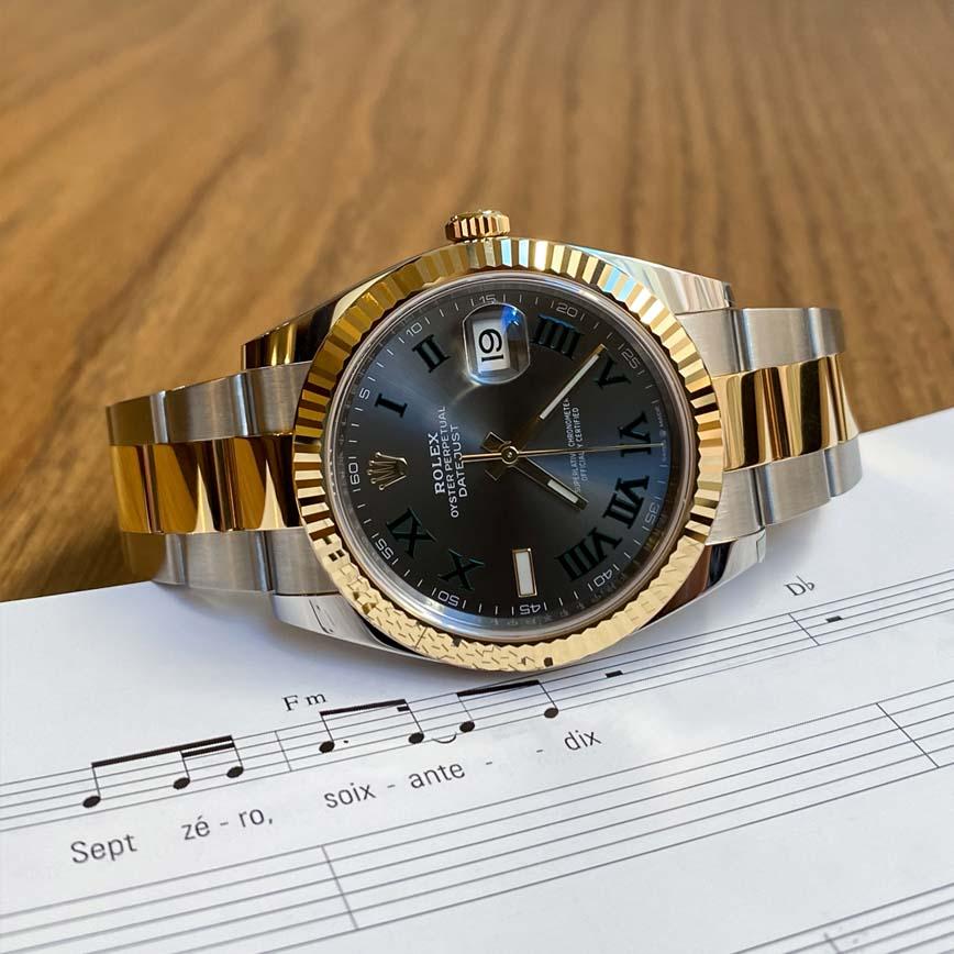Montre homme Rolex Datejust 2 Wimbledon 41mm or jaune et acier ref.126333 - Corse, Paris