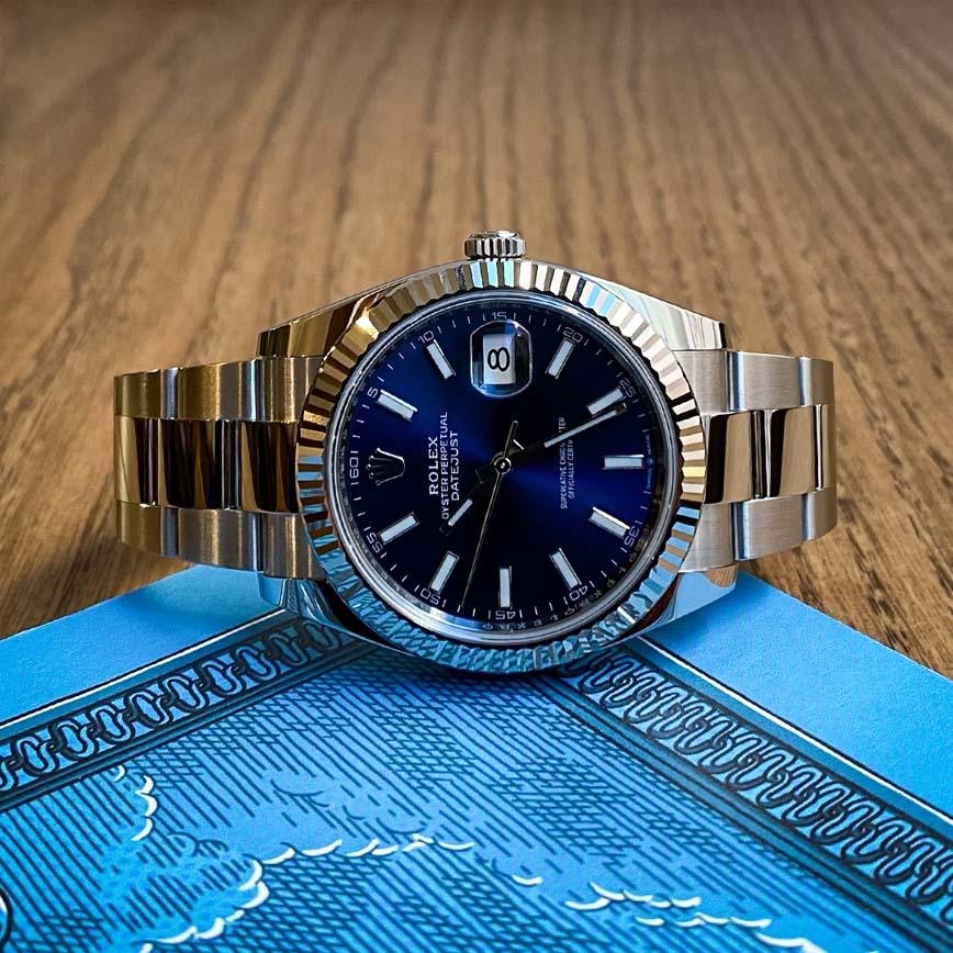 Montre homme Rolex Datejust cadran bleu 41mm bracelet oyster ref.126334 - Corse, Paris