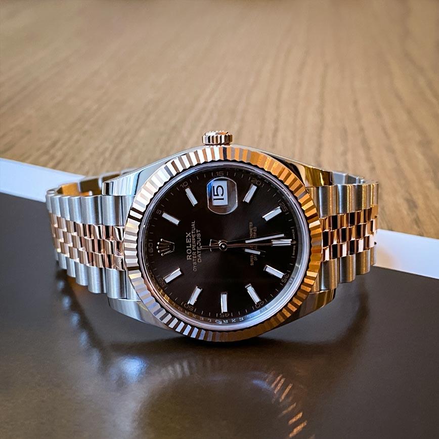 Rolex Datejust 2 cadran marron 41mm bracelet jubilé acier et or rose - Bastia, Paris