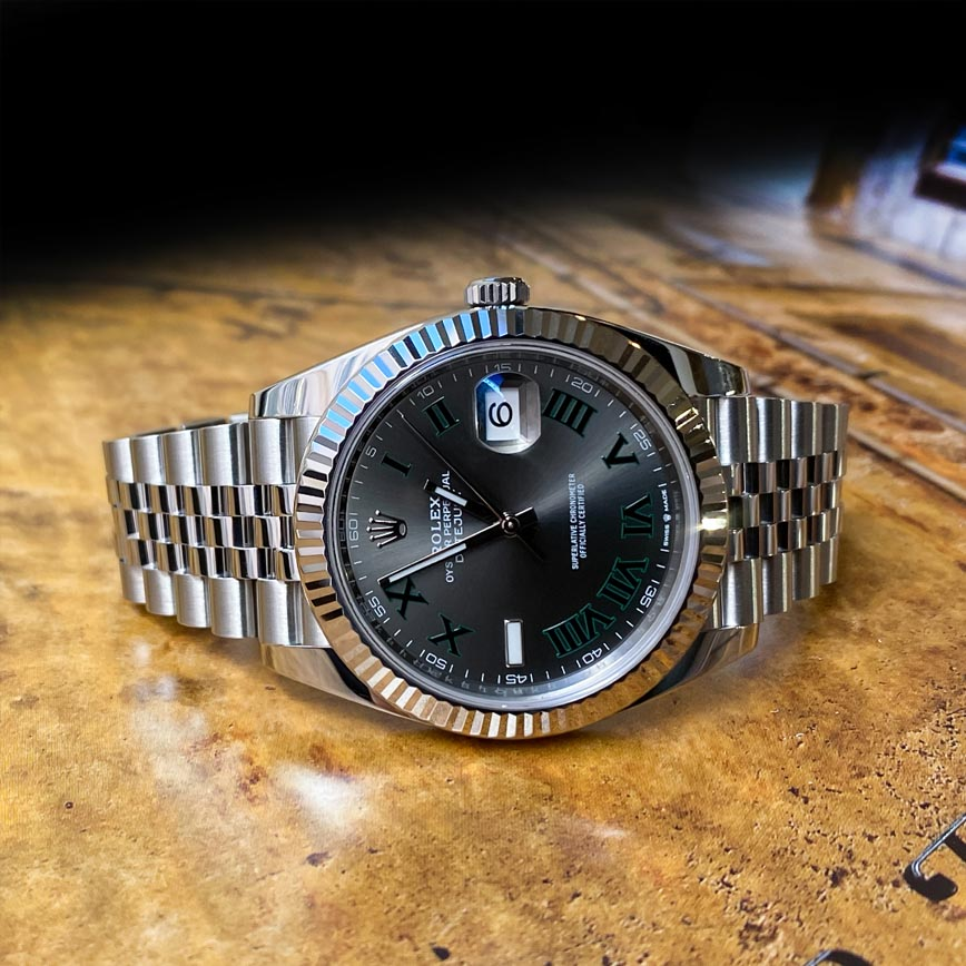 Rolex Datejust Wimbledon 41mm, bracelet jubilé ref.126334 - Bastia, Paris