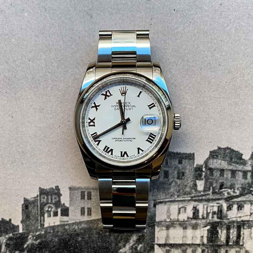 Rolex Datejust cadran blanc 36mm avec chiffres romains ref.116200 - Bastia, Paris