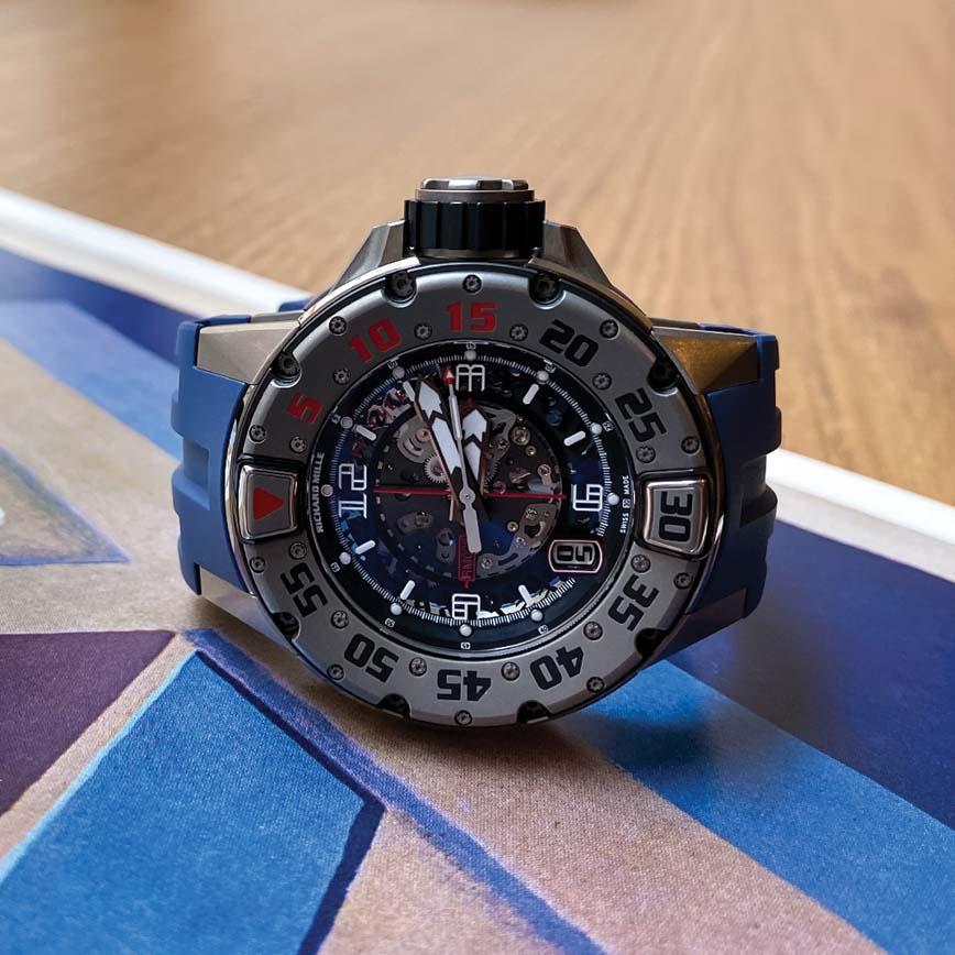 Montre homme Richard Mille RM28 bracelet caoutchouc bleu - Corse, Paris