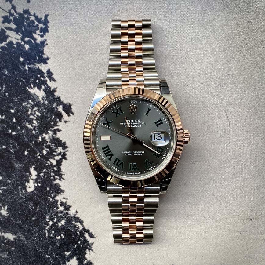 Montre homme Rolex Datejust 41mm Wimbledon ref.126331 or rose et acier - Corse, Paris