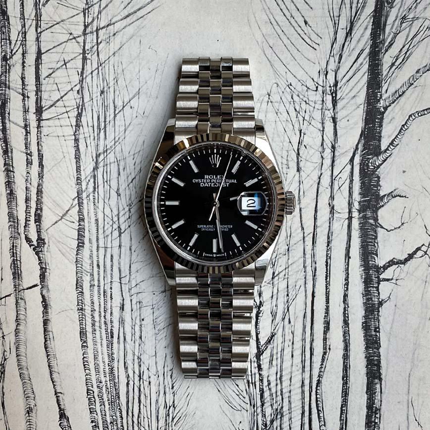 Montre homme Rolex Datejust cadran noir bracelet jubilé ref.126334 - Corse, Paris