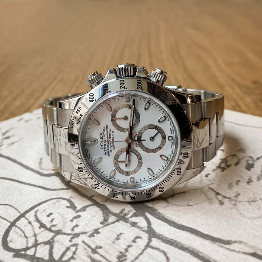 Montre homme Rolex Daytona APH Chromalight cadran blanc ref.116520 - Corse, Paris