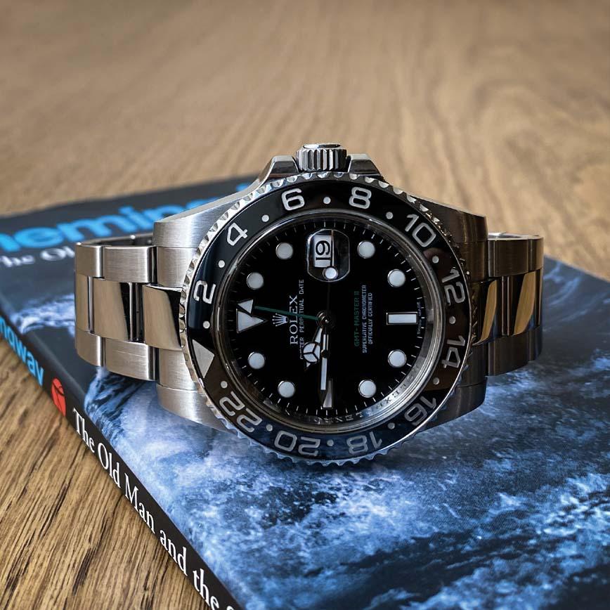 Montre homme Rolex GMT Master II cadran noir ref.116710LN - Corse, Paris