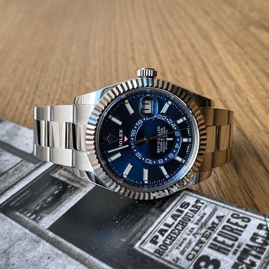 Montre homme Rolex Sky-Dweller cadran bleu ref.326934 - Corse, Paris