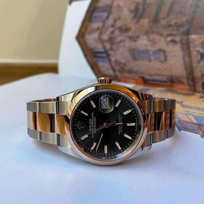 Rolex Datejust 36mm cadran ardoise acier/or rose ref.126201 - Bastia, Paris