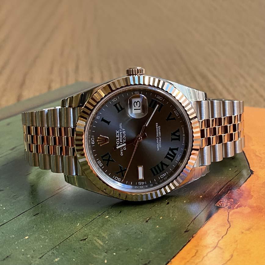 Rolex Datejust 41mm Wimbledon ref.126331 or rose et acier - Bastia, Paris