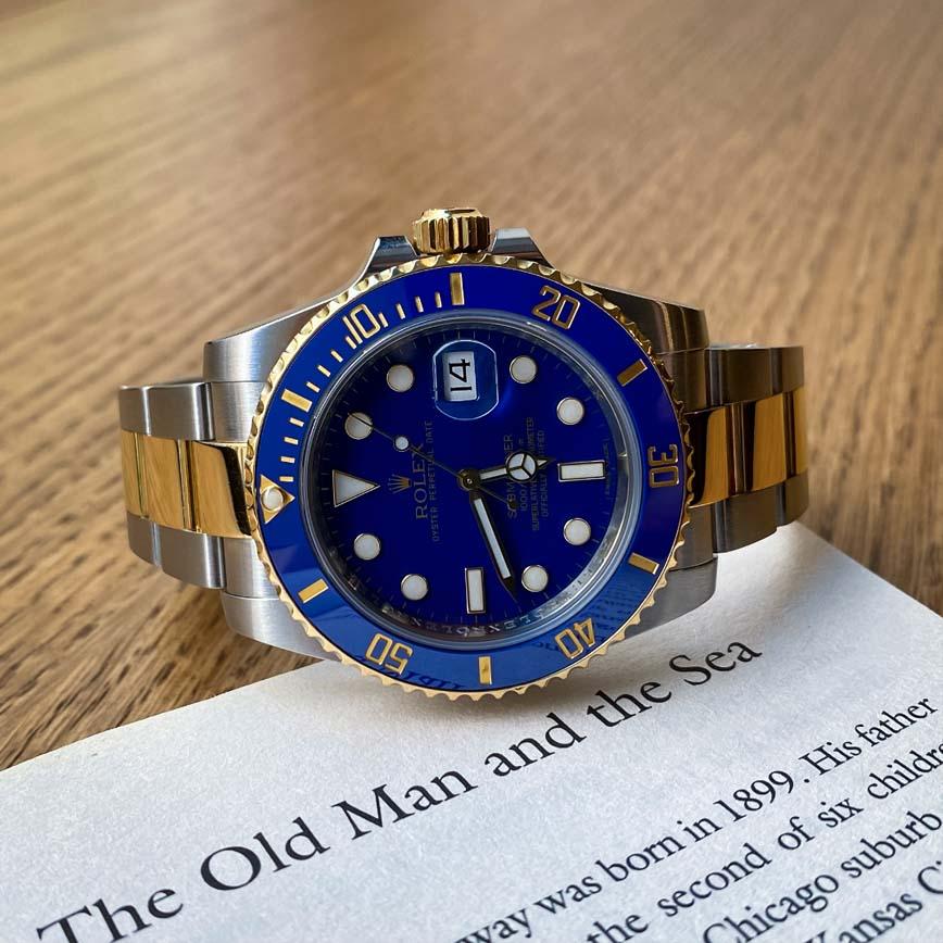 Montre homme Rolex Submariner cadran bleu ref.116613LB acier et or jaune - Bastia, Paris
