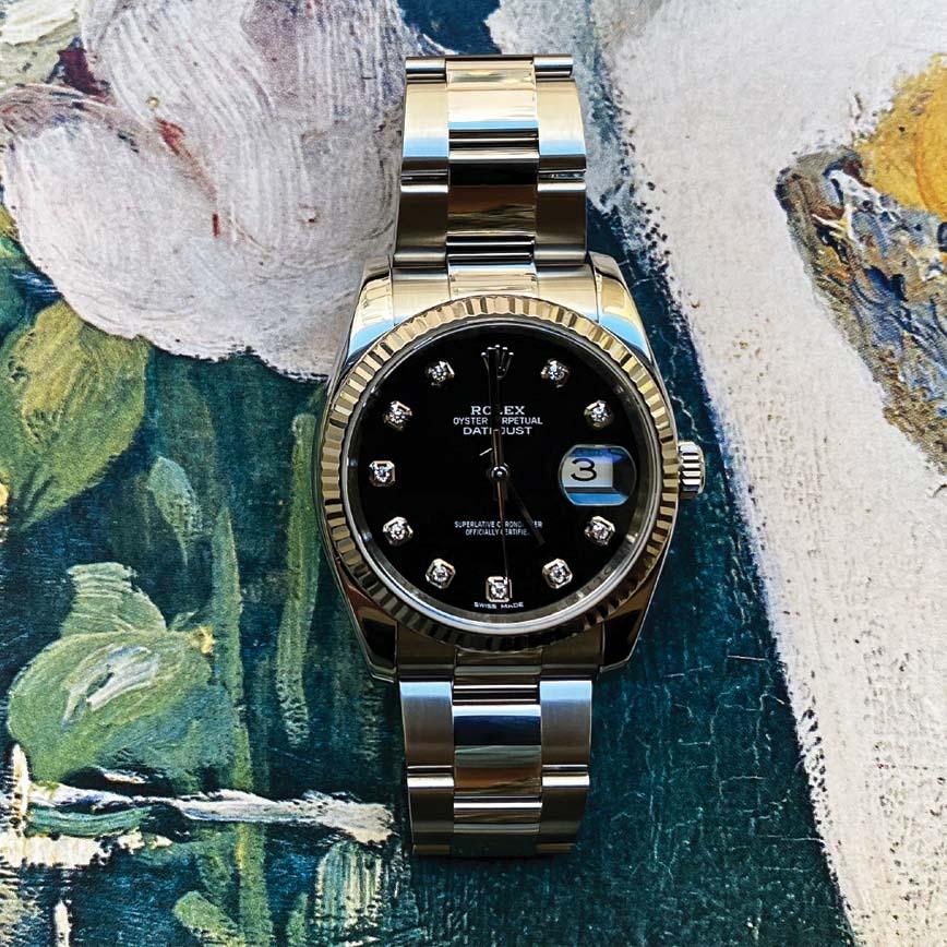 Rolex Datejust cadran noir index diamants ref.116234 - Corse, Paris