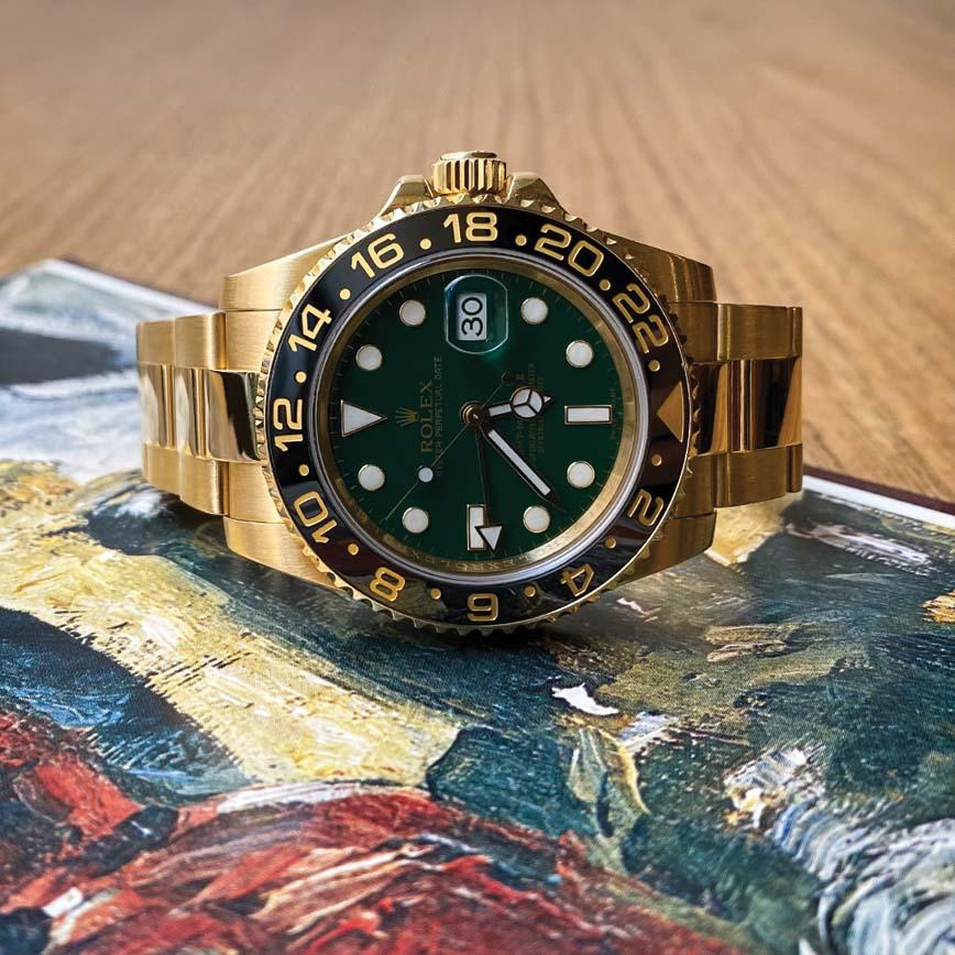Montre homme Rolex GMT Master 2 or jaune et cadran vert ref.116718LN - Corse, Paris