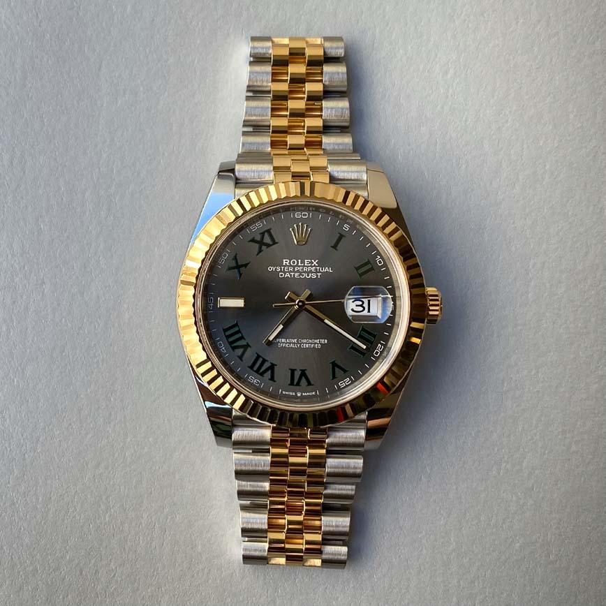 Montre homme Rolex Datejust Wimbledon 41mm or jaune et acier bracelet jubilé ref.126333 - Corse, Paris