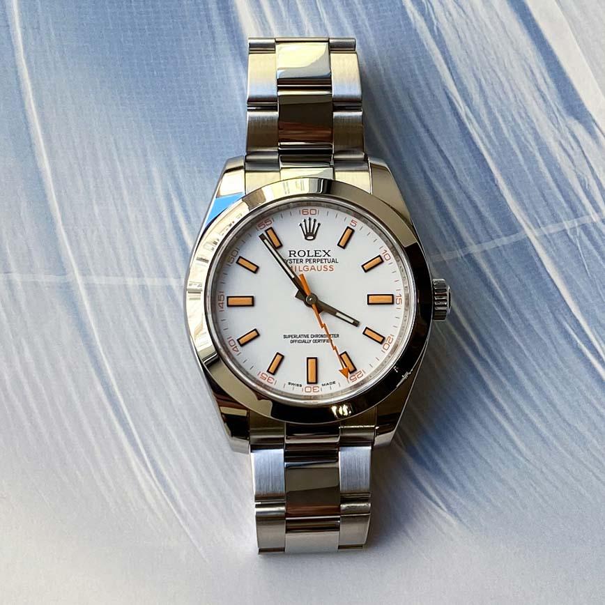 Montre homme Rolex Milgauss 40mm cadran blanc ref.116400 - Corse, Paris