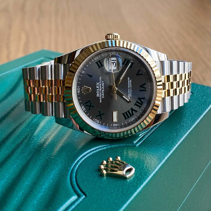 Rolex Datejust Wimbledon 41mm or jaune et acier bracelet jubilé ref.126333 - Bastia, Paris