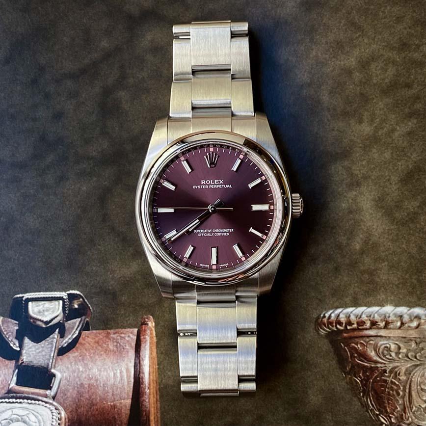 Rolex Oyster Perpetual cadran raisin ref.114200 - Bastia, Paris