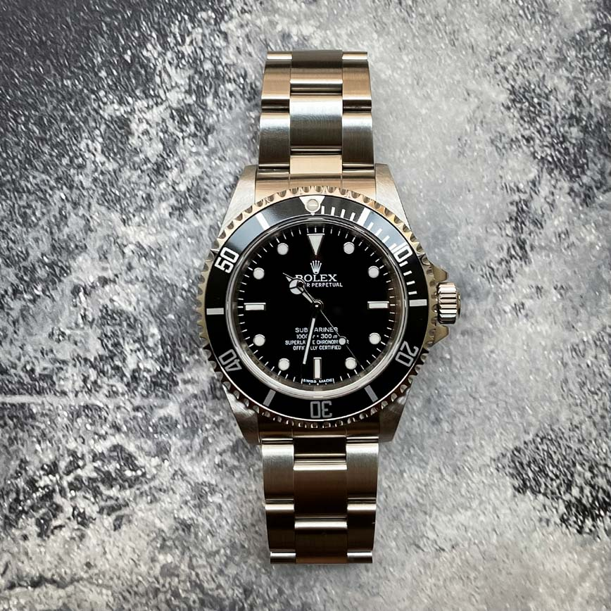 Montre homme Rolex Submariner no date cadran noir ref.14060 - Corse, Paris