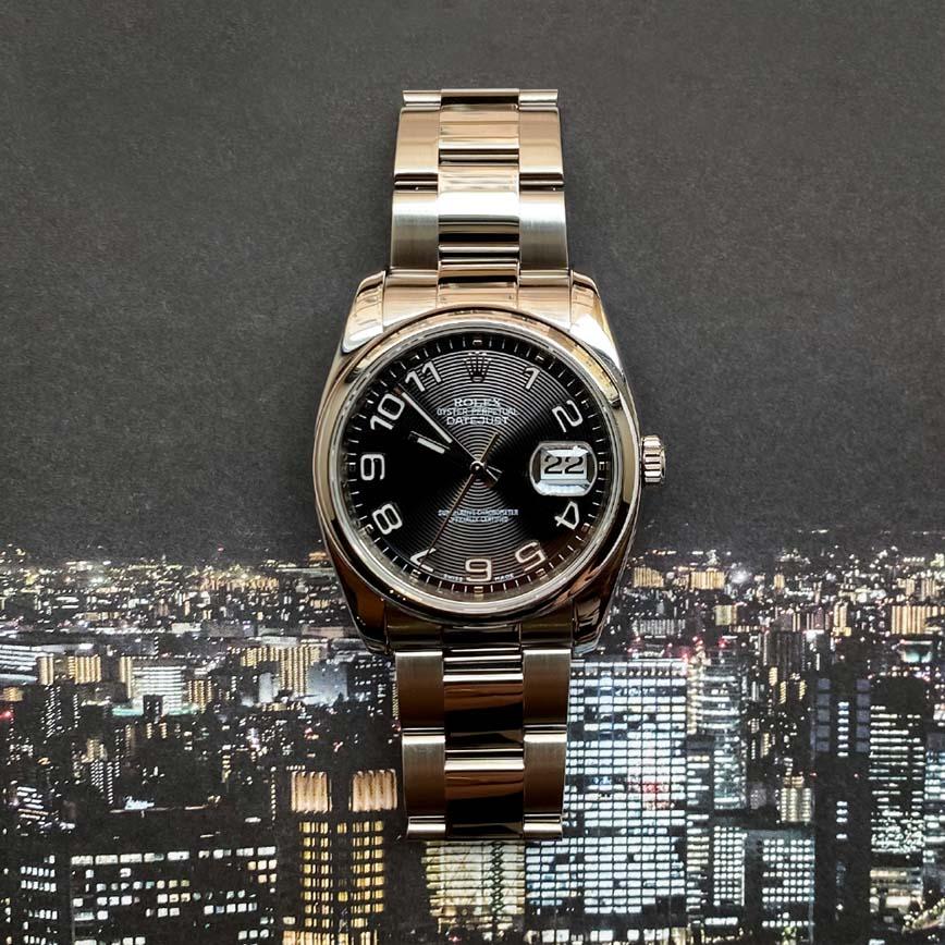 Montre homme Rolex Datejust cadran noir ref.116200 - Corse, Paris