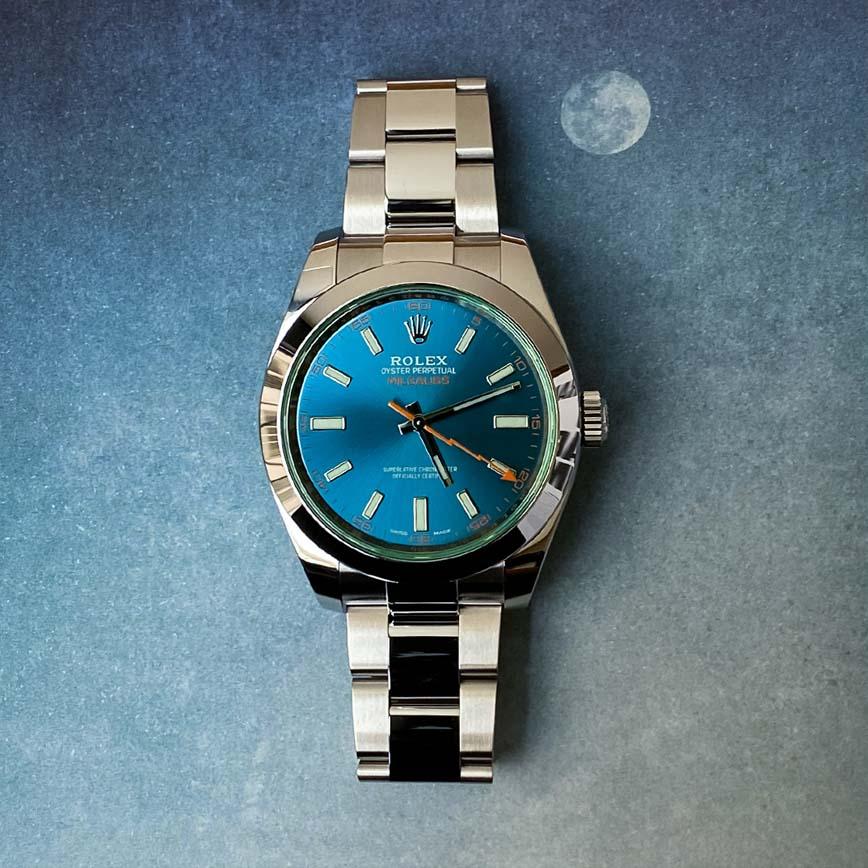 Montre homme Rolex Milgauss cadran bleu ref.116400GV - Corse, Paris